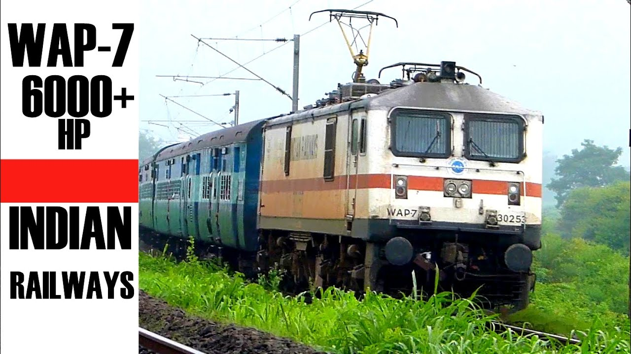 WAP7 ! INDIA's Most Powerful Passenger ELecTRiC LoCoMOTIVE ...