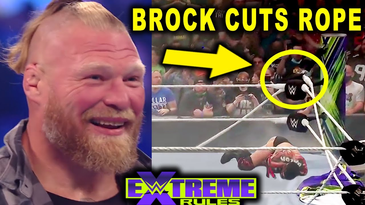 Download 5 Hidden Things at WWE Extreme Rules 2021 You Missed - Brock Lesnar Cuts Top Rope on The Demon