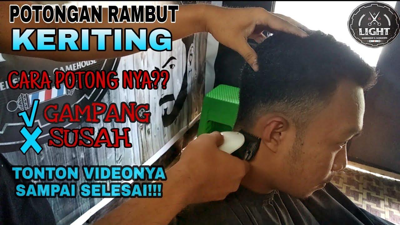 Cara Potong Rambut Keriting Pria - YouTube