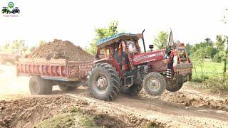 Massey Ferguson 385 | Soil loaded Trolley Pulling Complication | Punjab Tractors