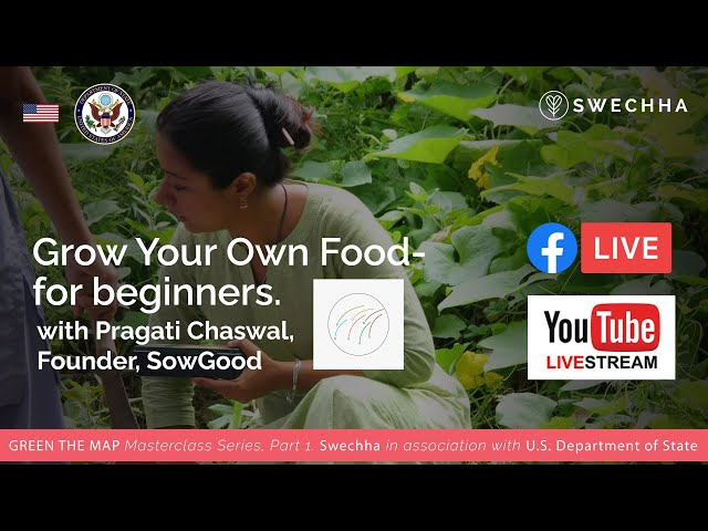 DIY Masterclass #1 - How to grow your own food - for beginners- with Pragati Chaswal