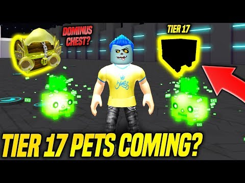 *NEW* DOMINUS AREA AND TIER 17 PETS IN PET SIMULATOR UPDATE TOMORROW!? (Roblox)