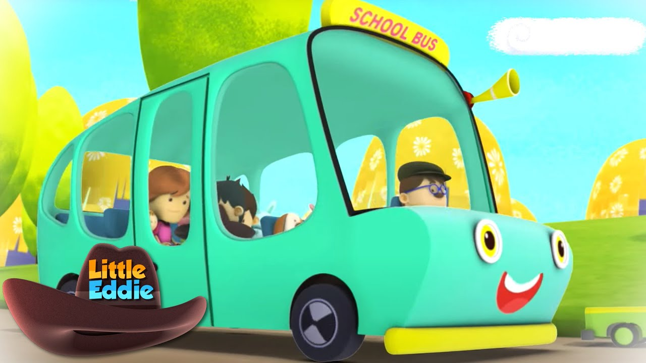 The Wheels on The Bus   Bus Ride Song   Nursery Rhymes & Songs   Children's Music by Little Eddie