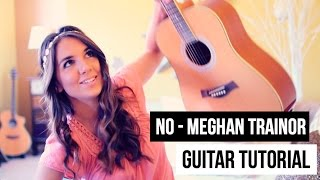 No // Meghan Trainor // Guitar Tutorial