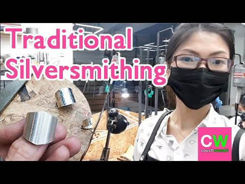 Making My First Sterling Silver Ring At Studio 925 (DAILY VLOG 151) | Couchwasabi