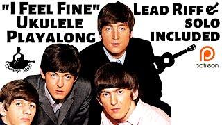 I FEEL FINE Beatles Ukulele Lesson Play along SOLO RIFFS in TAB