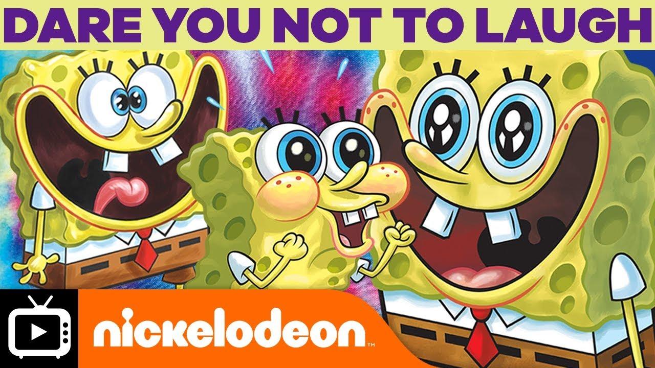 SpongeBob Laughing - We Dare You Not to Laugh! Nickelodeon ...