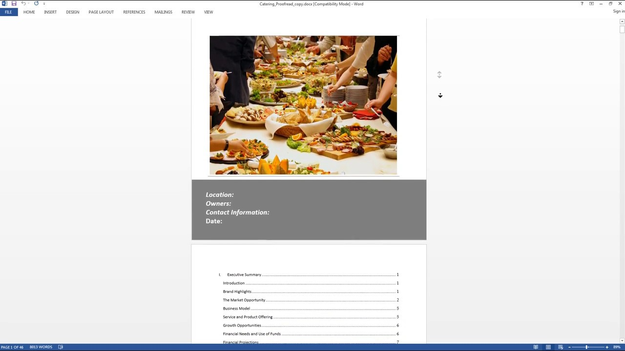 Catering Business Plan Template Preview YouTube - Startupdaddy business plan template