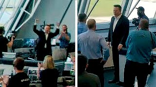 Elon Musk's reaction/celebration of historic SpaceX's launch of Human Crew Dragon Demo-2