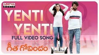 Yenti Yenti Full Song    Geetha Govindam Son