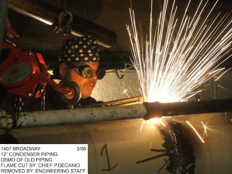 Chief Engineer Paul DeCanio Pipe Welding