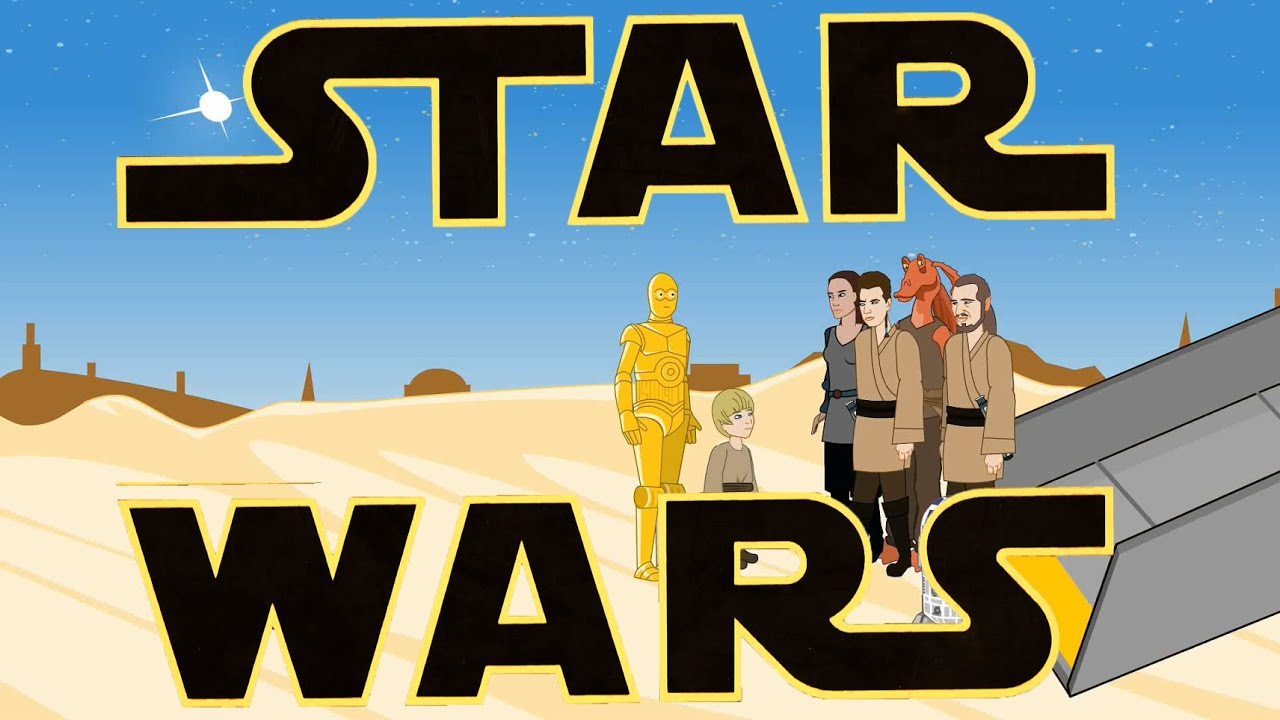 star wars episodes i iii in 3 minutes star wars animation. Black Bedroom Furniture Sets. Home Design Ideas