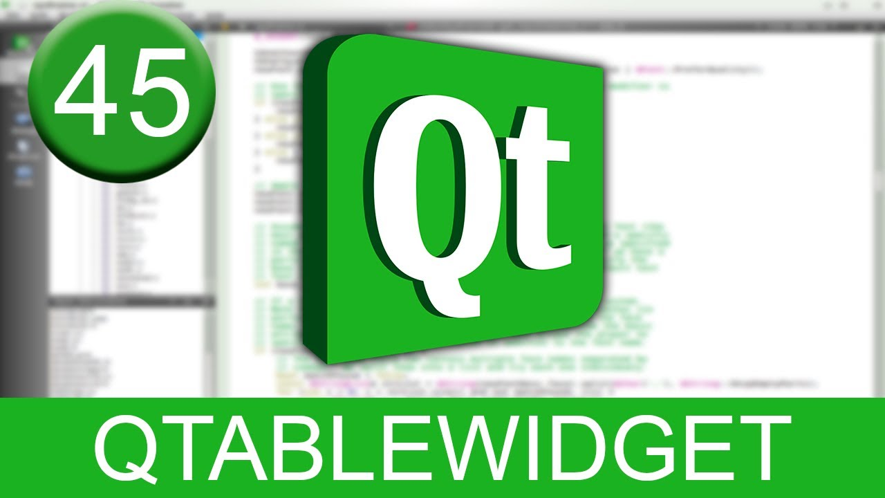 Tutorial Qt Creator - QTableWidget - YouTube