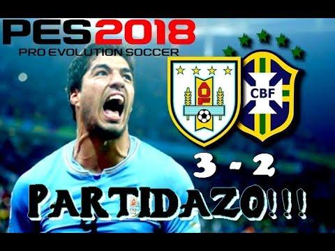 Pro Evolution Soccer 2018 -PARTIDAZO- Uruguay 3 - Brasil 2