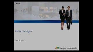 Microsoft Dynamics AX: ميزانية المشروع