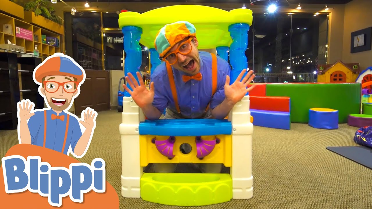 Blippi Visits The Kinderland Indoor Playground!   Learn With Blippi   Educational Videos For Kids