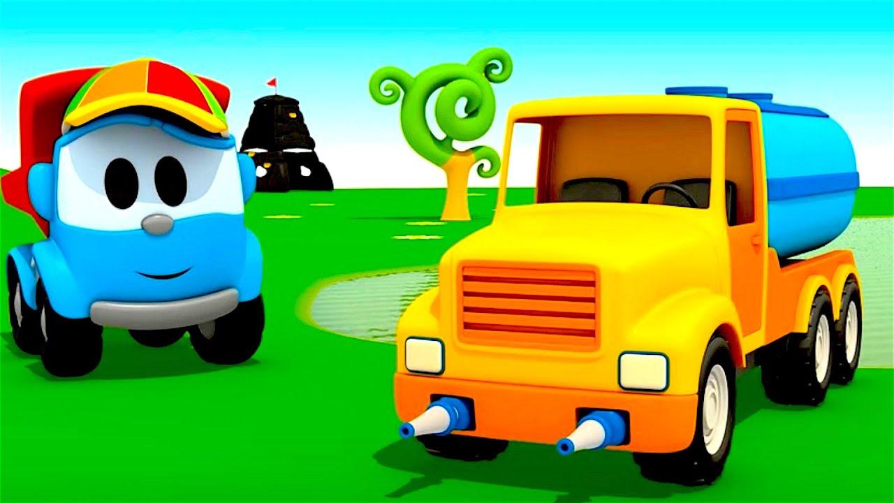 pequeo leo el camin cisterna coches infantiles carritos para nios camiones infantiles youtube
