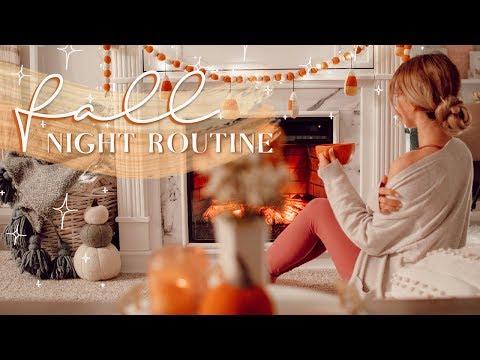 fall-night-routine!-🍂✨