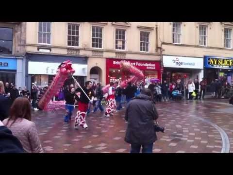The Chinese Year of The Dragon walk about in Stirling city centre with City of Stirling Guide