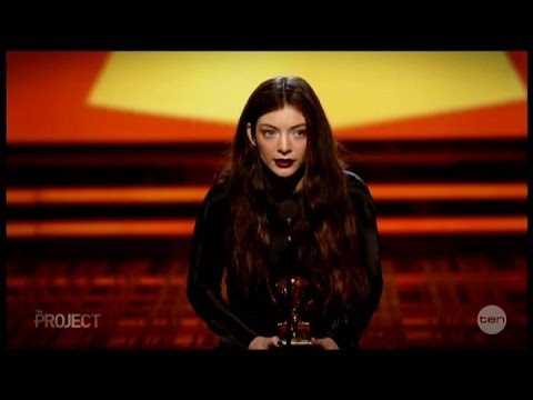 Lorde's Biggest Acceptance speech at Grammy's 2014