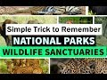 Simple Trick to Remember National Parks and Sanctuaries