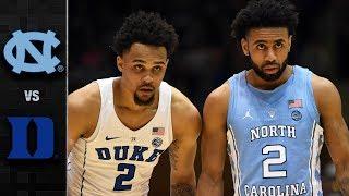 North Carolina vs. Duke Basketball Highlights (2017-18)