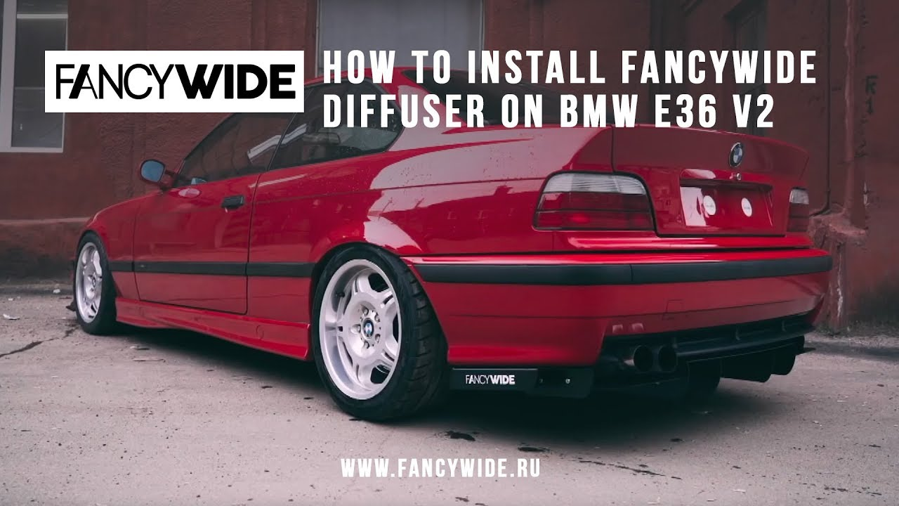 How To Install Fancywide Rear Diffuser On Bmw E36 V2 Youtube