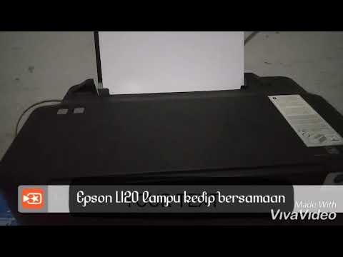 Printer Epson L120 Lampu Menyala Bersamaan.