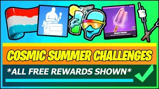 *ALL* Cosmic Summer Challenges & All Free Rewards (Fortnite)