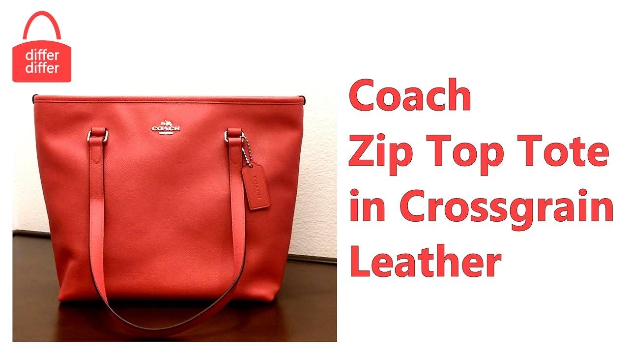 Coach Zip Top Tote In Crossgrain Leather 58894 Youtube