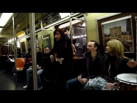 Subway ride with Dawn Cantwell to Joe's Pub in New York