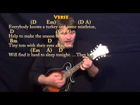 The Christmas Song - Mandolin Cover Lesson in D - Chords/Lyrics