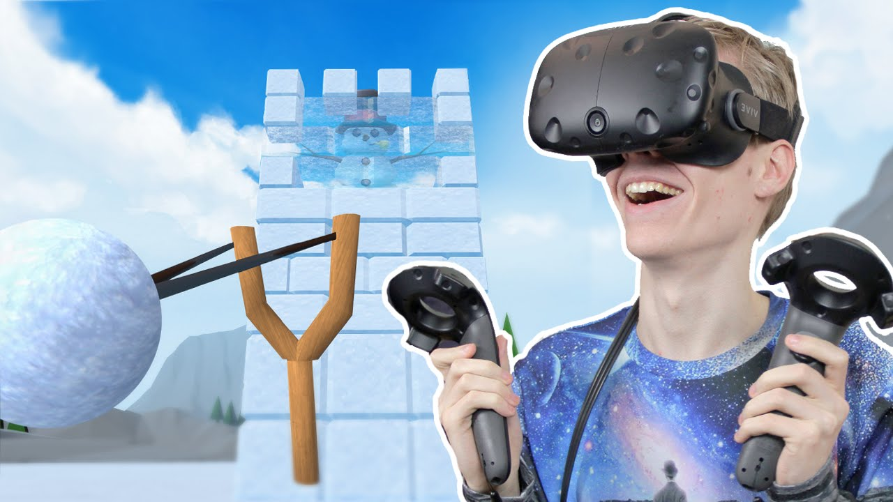 VR SNOWBALL FIGHT GAME! | Snow Fortress (HTC Vive Gameplay)