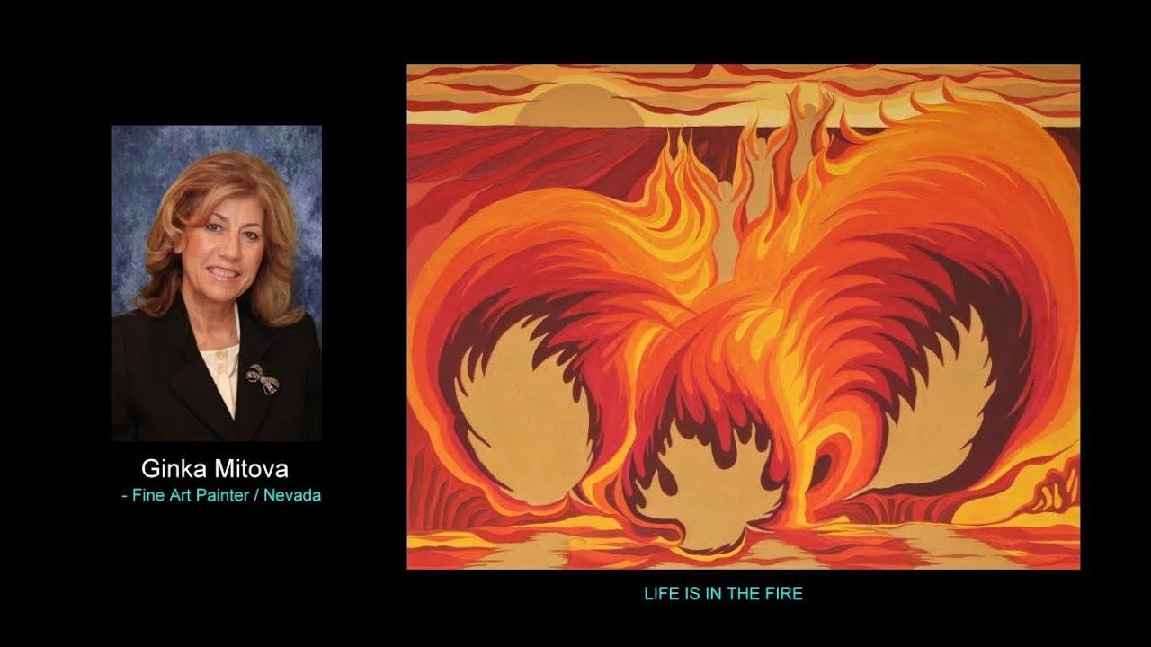 Ginka Mitova - LIFE IS IN FIRE / Floral Art