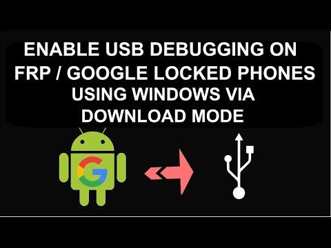 How to Enable USB Debugging Mode / ADB on FRP Locked  Samsung Devices To Remove FRP Lock
