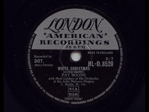 Pat Boone 'White Christmas' 1957 78 rpm