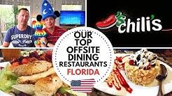 TOP 15 ORLANDO CHAIN RESTAURANT DINING REVIEW | FLORIDA DISNEY WORLD VLOG