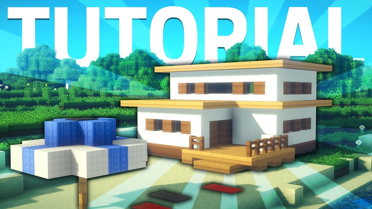 Minecraft casa de playa moderna f cil y bonita tutorial for Casa moderna 2 minecraft