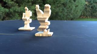 Figuras 3d Dobles Hechas Con Sierra De Marquetería. Double 3d Scroll Saw Patterns.