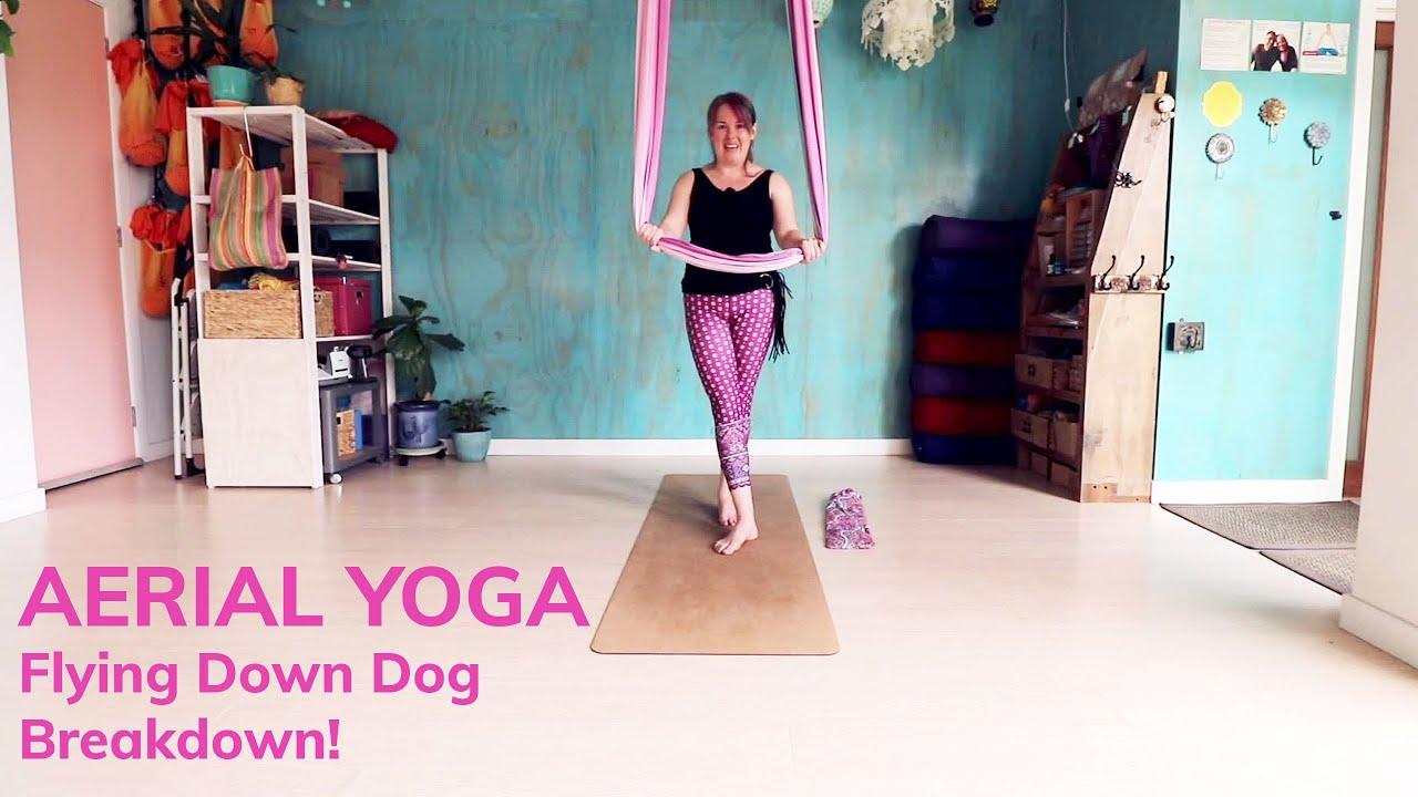 Aerial Yoga  Flying Down Dog Flow   YouTube