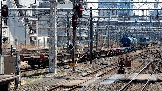 2019/04/16 【貨車配給】 EH200-11 大宮駅 | JR Freight: Tank Cars & Container Cars after Inspection at Omiya