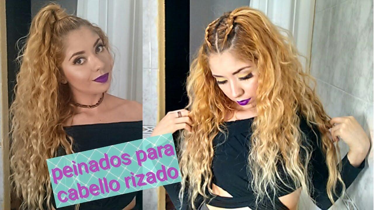 Peinados Para Cabello Rizado Faciles Cabello Suelto Youtube