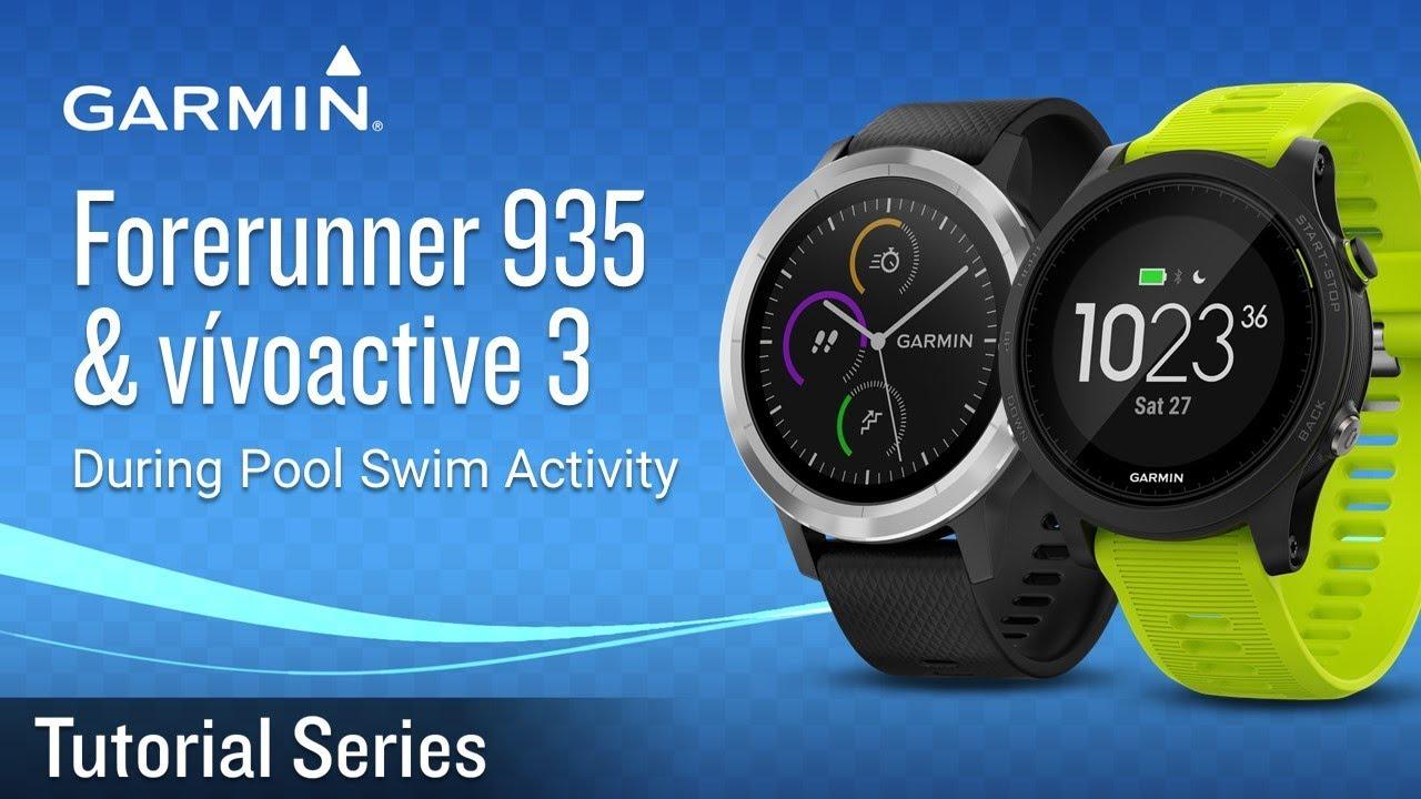 Tutorial Forerunner 935 Vivoactive 3 Resting During Pool Swim