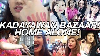 kadayawan bazaar home alone august 9 16 2015 vlog   makeupbykarlamisa