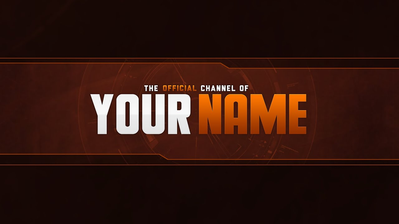 Free YouTube Banner Template  PSD    YouTube