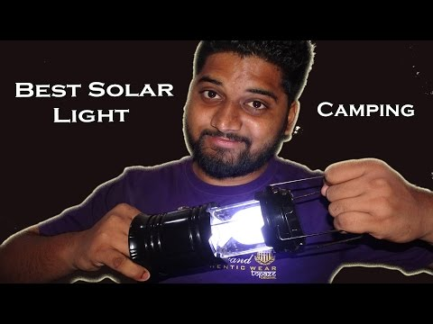 Solar Rechargeable camping  LED Lantern Best For Camping with mobile charger