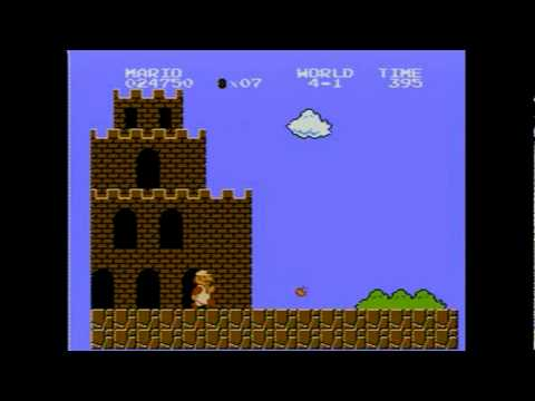 Super Mario Bros. - NES - 1UP mushroom locations