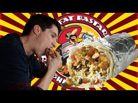 2 POUND  Vegan Bodybuiding Burrito Review ✧ [HUGE] Fat Bastard Burrito ✧