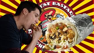 2 POUND  Vegan Bodybuiding Burrito Review ✧ [HUGE] Fat Bastard Burrito ✧