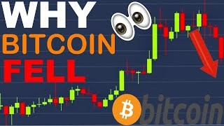 WHY BITCOIN FELL | Bitcoin Cryptocurrency 2020